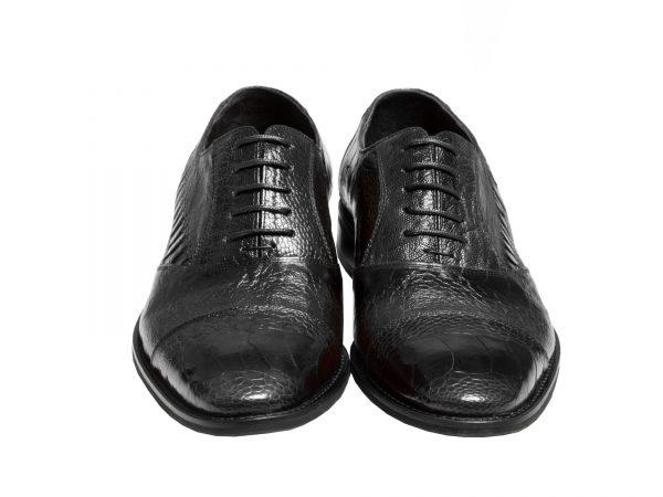 کفش دامادی چرم ساق پای شترمرغ