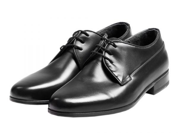 کفش ساده رسمی مردانه با چرم براق مدل چیترا
