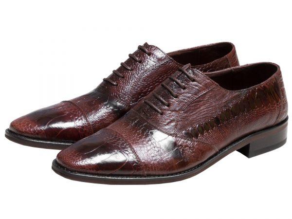 کفش مجلسی مردانه مدل پالادیم چرم کروکودیلی