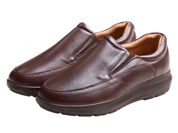 کفش مردانه اداری ساده رنگ قهوه ای مدل کنتال