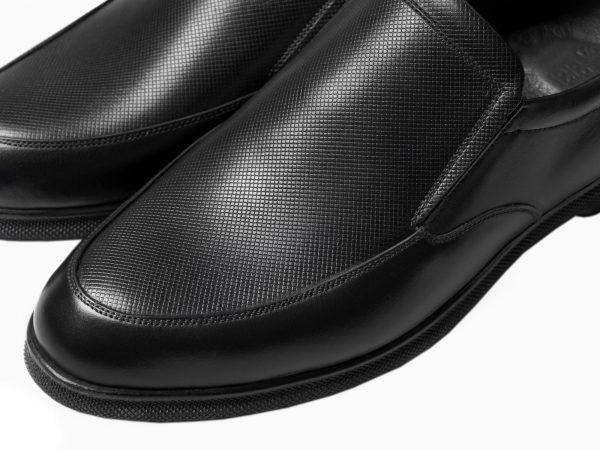 رویه چرم کفش مردانه طبی نروژی مشکی