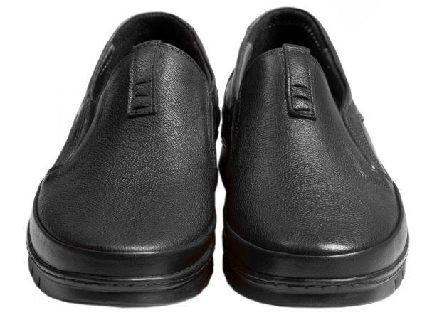 کفش چرم مردانه طبی مدل فورسه مشکی