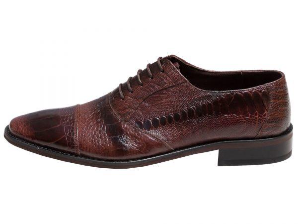 کفش مردانه مجلسی چرم شترمرغ پالادیوم