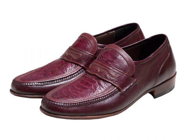 کفش چرم دست دوز ساق پای شترمرغ