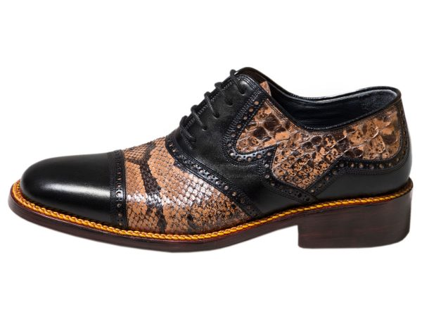 عکس مدل کفش مجلسی مردانه با پوست مار پایتون سلیو