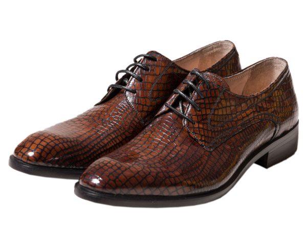 عکس مدل کفش مجلسی چرم مردانه هیلدا طرح پوست ماری