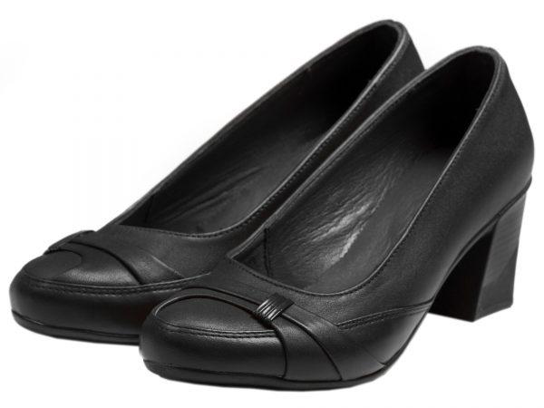 کفش چرم زنانه برای اداره مدل آنیل مشکی