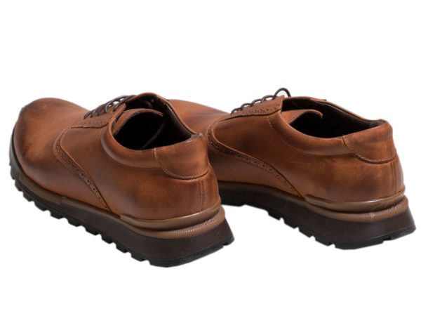 کفش اسپرت پسرانه چرمی مدل فوستر رنگ عسلی