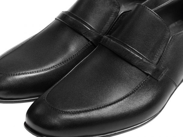 کفش رسمی مردانه بدون بند مشکی مدل مالنا