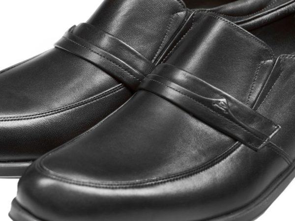 کفش تبریز با چرم ساده مات مدل یونیک مشکی