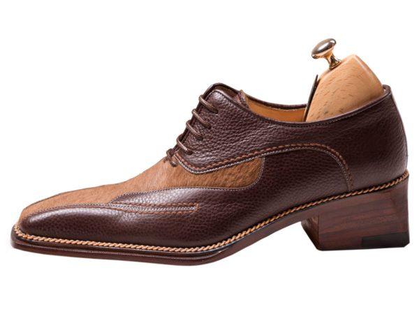 کفش تمام چرم دستدوز دامادی مدل لئوناردو