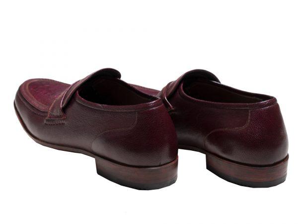 کفش تمام چرم مردانه کژوال مدل فانتوفی زرشکی