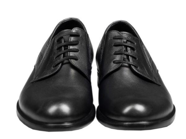 کفش رسمی مردانه یا رویه ساده مدل سزار مشکی
