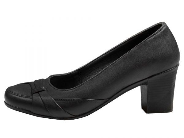 کفش زنانه مدل آنیل رنگ مشکی پاشنه پهن کوتاه