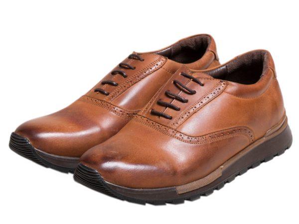 کفش مردانه اسپرت چرمی مدل فوستر عسلی