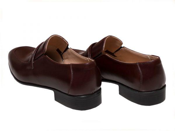 پاشنه تخت کفش رسمی مردانه مدل مالنا قهوه ای