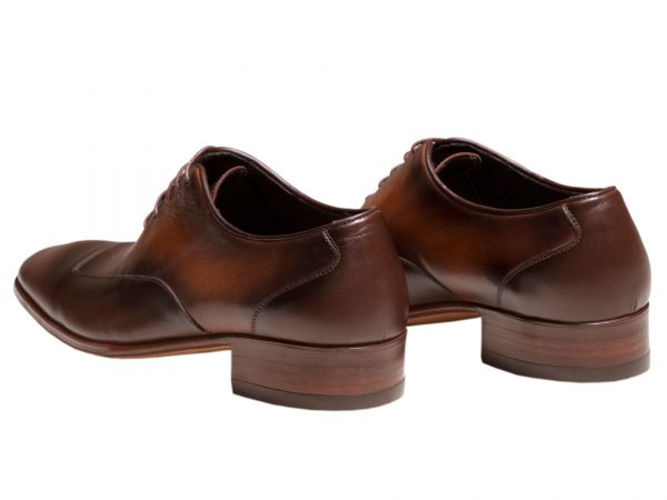 کفش چرم مجلسی مردانه مدل لوکا بنددار دست دوز
