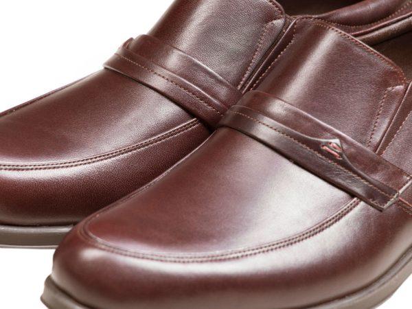 چرم مات ساده کفش مردانه رسمی یونیک قهوه ای