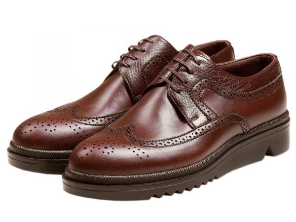 کفش مردانه برای اداره و کار مدل نیومن قهوه ای