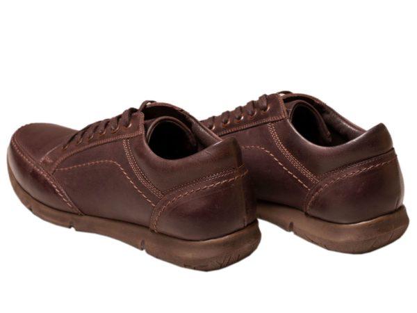 کفش چرم اسپرت مدل اروین قهوه ای