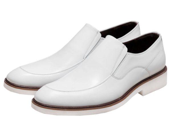کفش چرم سفید رنگ مدل فابی