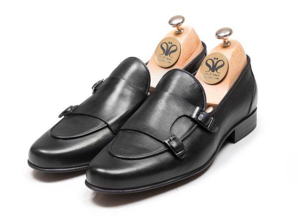 عکس کفش double monk strap ماریو مشکی