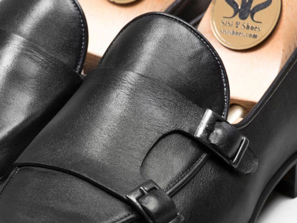 کفش ماریو مشکی double monk strap