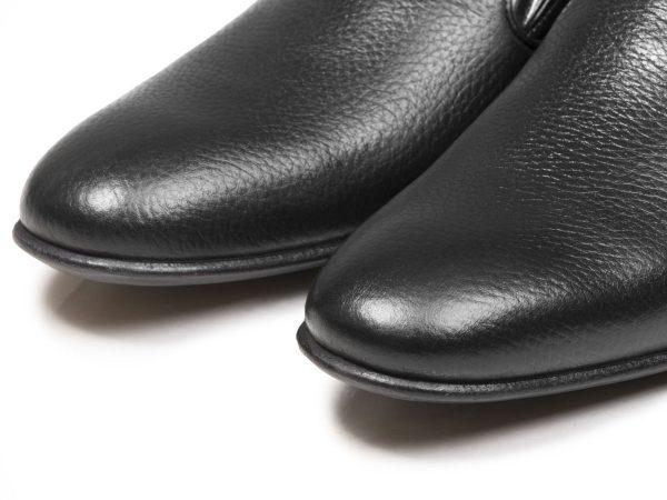 کفش مردانه با چرم شلانگ و ساده تبریز مدل آلدو