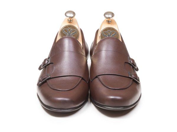 کفش چرم تبریز مدل ماریو double monk strap