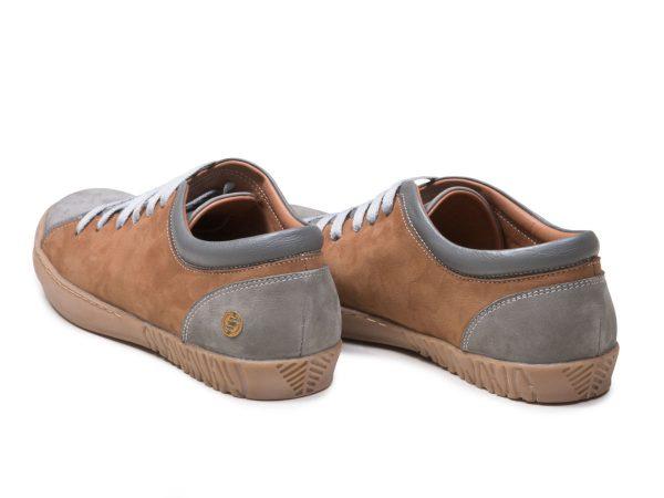کفش چرم دخترانه اسپرت مدل آیسان رنگ طوسی نابوک