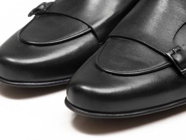 کفش کالج مردانه دو سگک ماریو مشکی