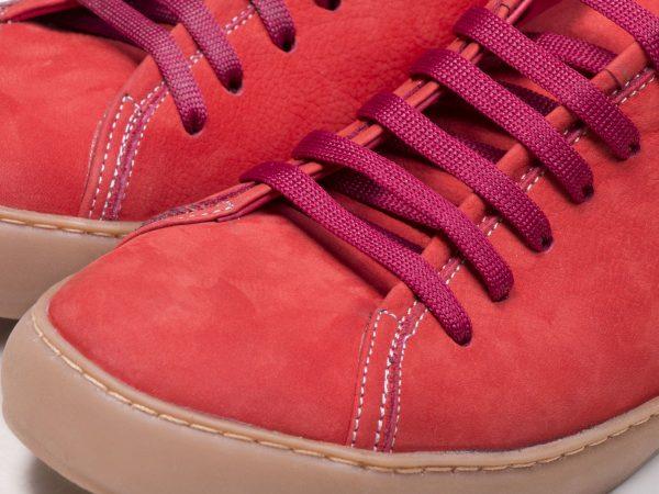 کفش کتانی زنانه رنگ گلبهی بنددار مدل آیسان