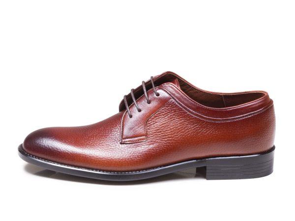 کفش کلاسیک چرم مردانه مدل هاکان رنگ عسلی