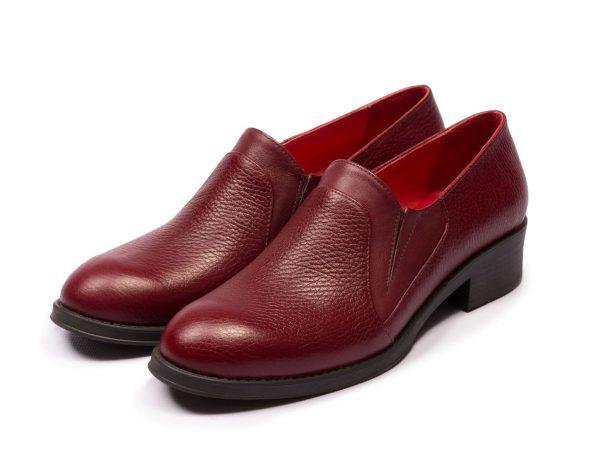 عکس مدل کفش اداری تخت زنانه دلارام رنگ زرشکی