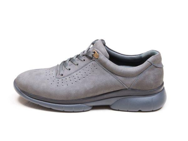 عکس مدل کفش اسنیکرز مردانه لسکون رنگ طوسی فیلی