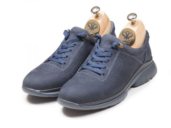 عکس مدل کفش اسنیکرز مردانه لسکون سورمه ای