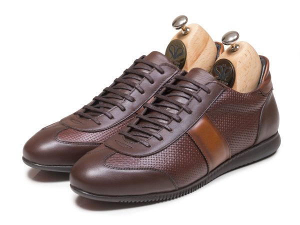 عکس مدل کفش اسپرت مردانه چرمی مدل برنی رنگ قهوه ای