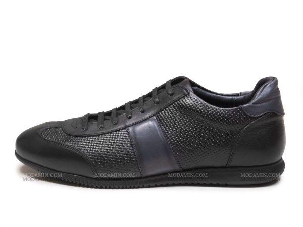 عکس مدل کفش اسپرت مردانه چرمی مدل برنی رنگ مشکی