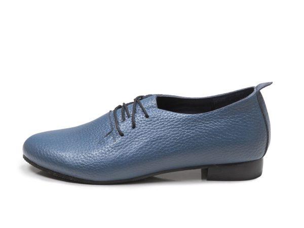 عکس مدل کفش دخترانه تخت روکا رنگ آبی