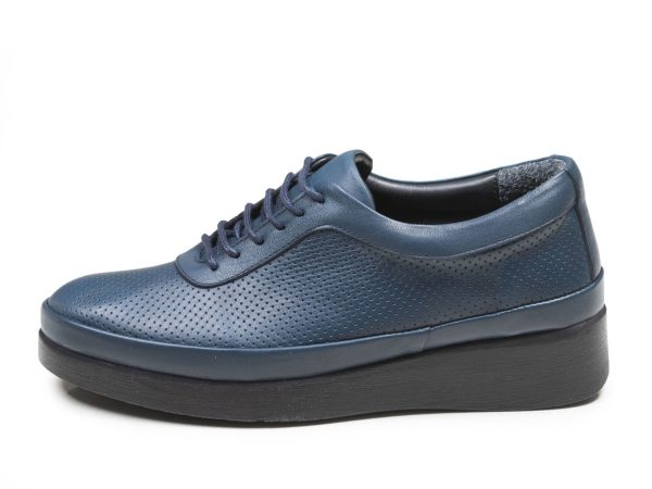 عکس مدل کفش لژدار زنانه رنگ آبی دیلا