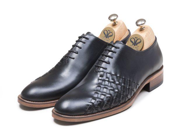 عکس مدل کفش مجلسی مردانه چرم مدل دیبالا رنگ مشکی