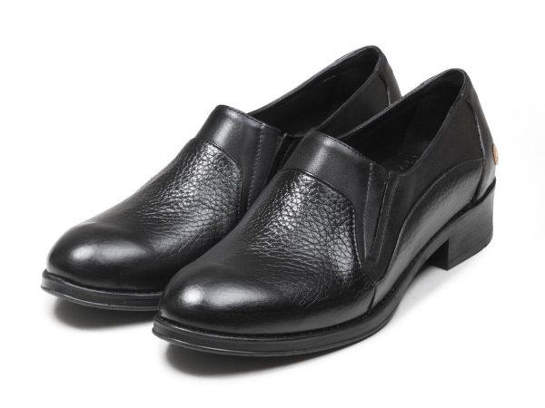 مدل کفش تخت زنانه برای کار و اداره رنگ مشکی دلارام پلاس