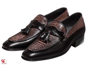 کفش چرم مردانه مدل هیرو