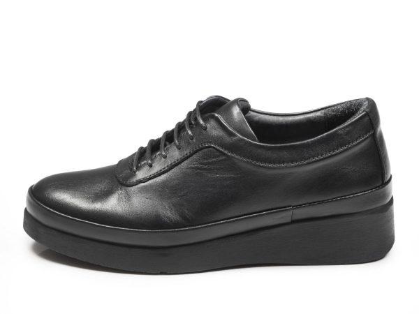 مدل کفش چرم زنانه لژدار مولینا رنگ مشکی