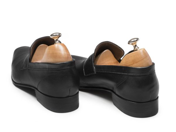 پاشنه چرمی کفش دستدوز تبریز مدل فرانسوی