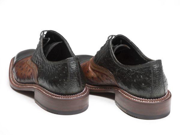 پاشنه ۴ سانتی کفش چرم مردانه دستدوز مدل شایان وی ای پی