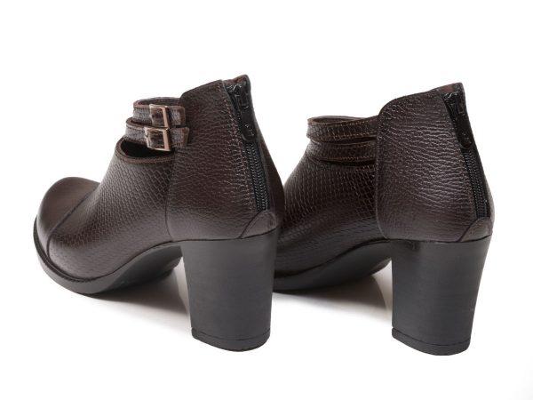 پاشنه 7 سانتی متری کفش زنانه بانیا قهوه ای