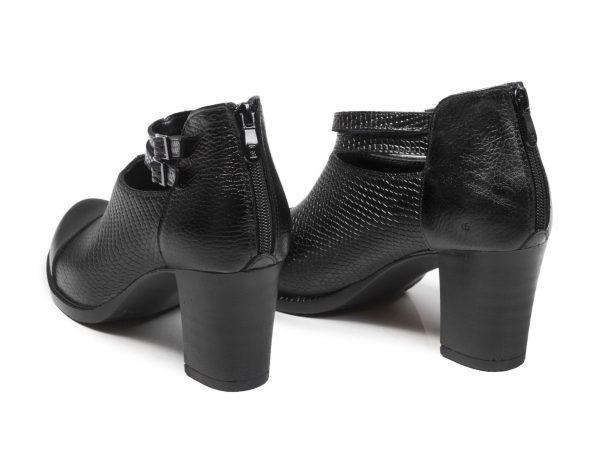 پاشنه 7 سانتی کفش زنانه مدل بانیا مشکی