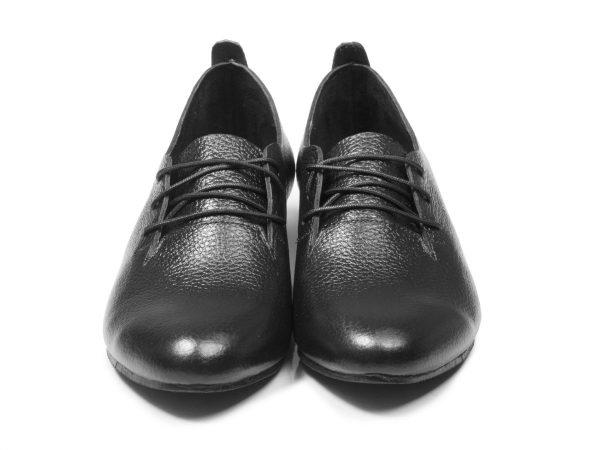 چرم فلوتر کفش زنانه مدل روکا رنگ مشکی