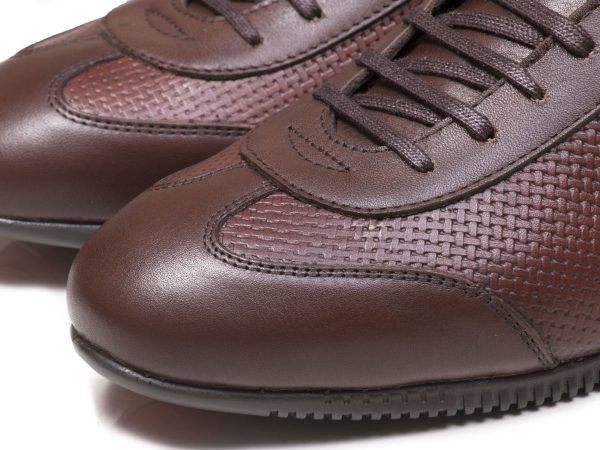 چرم قهوه ای کفش اسپرت پسرانه برنی